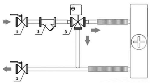 Схема обвязка фанкойла